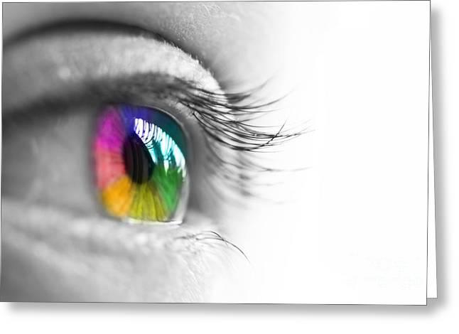 La vie en couleurs Greeting Card by Delphimages Photo Creations