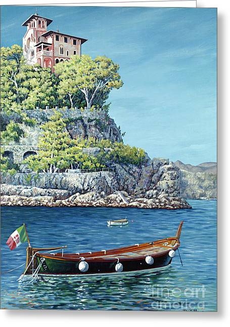 Portofino Italy Gallery Greeting Cards - La Vie en Rose Greeting Card by Danielle  Perry