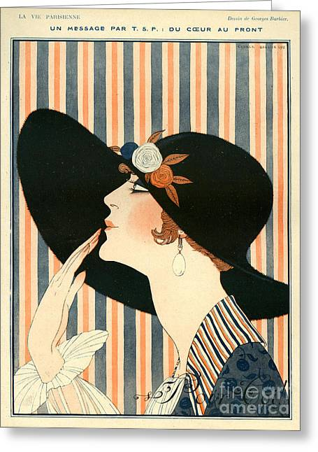 Nineteen-tens Greeting Cards - La Vie Parisienne 1918 1910s France G Greeting Card by The Advertising Archives