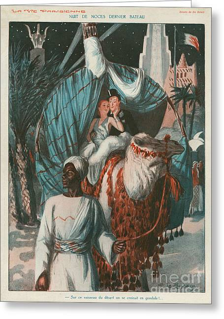 La Vie Parisienne 1920s France Weddings Greeting Card by The Advertising Archives