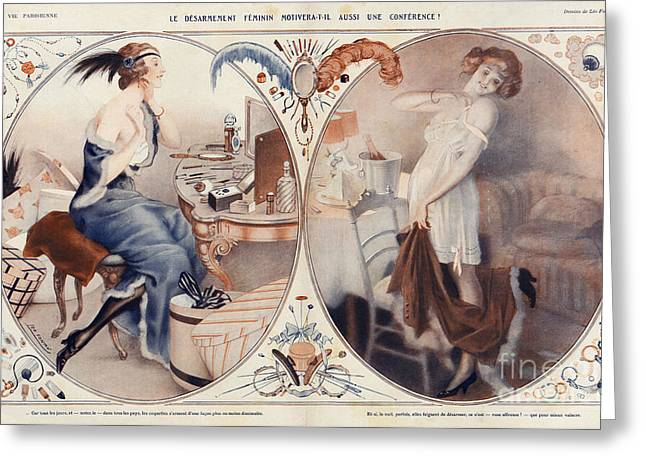 The Posters Greeting Cards - La Vie Parisienne 1922 1920s France Leo Greeting Card by The Advertising Archives