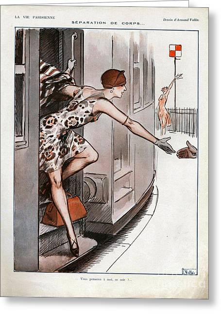 La Vie Parisienne  1925 1920s France Cc Greeting Card by The Advertising Archives