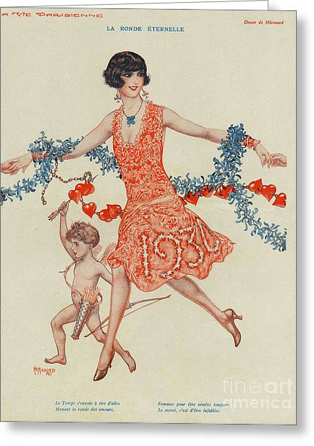 With Love Drawings Greeting Cards - La Vie Parisienne 1930 1930s France Greeting Card by The Advertising Archives
