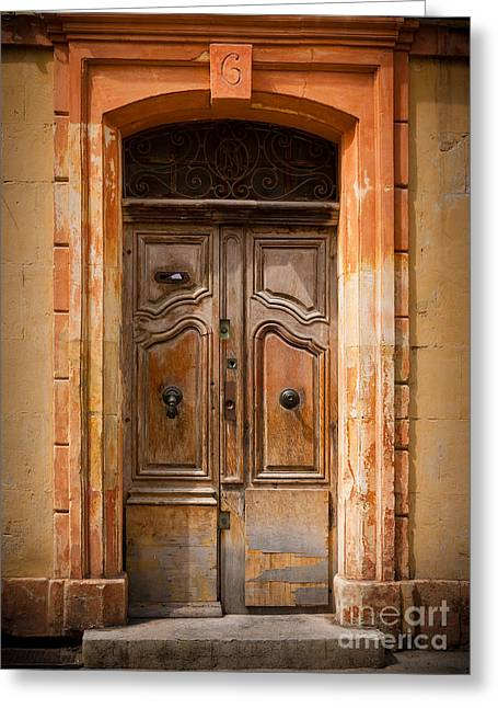 French Door Greeting Cards - La Vieille Porte Greeting Card by Inge Johnsson