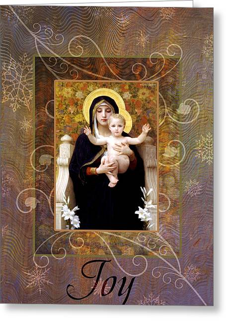 Virgin Mary Greeting Cards - La Vierge Greeting Card by Helen Passey