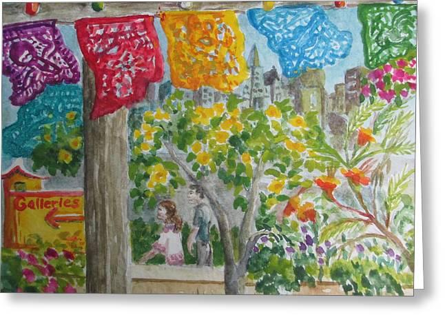La Villita Greeting Cards - La Villita Galleries Greeting Card by Lynn Maverick Denzer