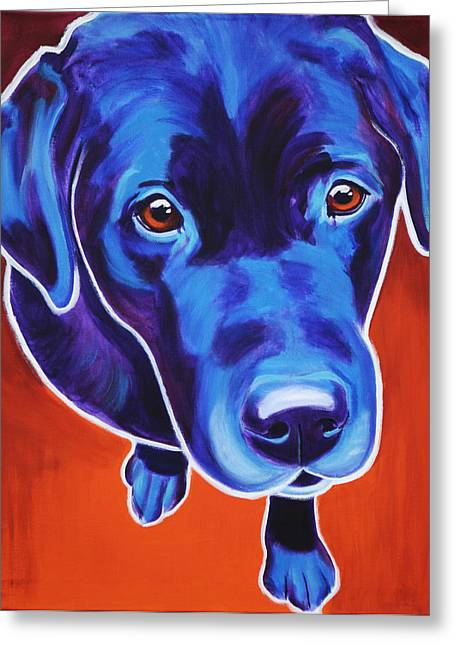 Alicia Vannoy Call Paintings Greeting Cards - Lab - Olive Greeting Card by Alicia VanNoy Call