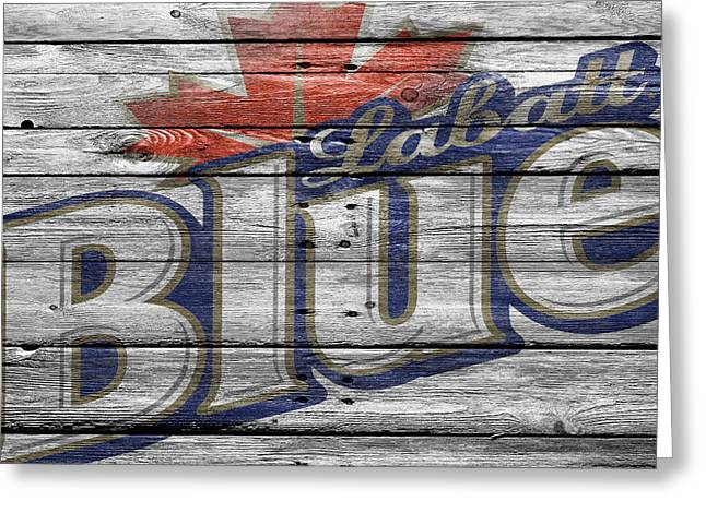Saloons Greeting Cards - Labatt Blue Greeting Card by Joe Hamilton