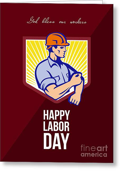 Labor Day Greeting Cards - Labor Day Celebration Greeting Card Poster Greeting Card by Aloysius Patrimonio
