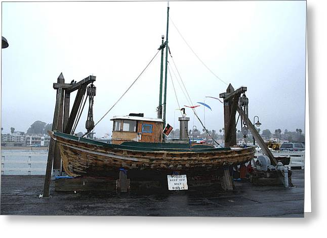 Santa Cruz Wharf Greeting Cards - Labor Of Love Greeting Card by Robin DesJardins