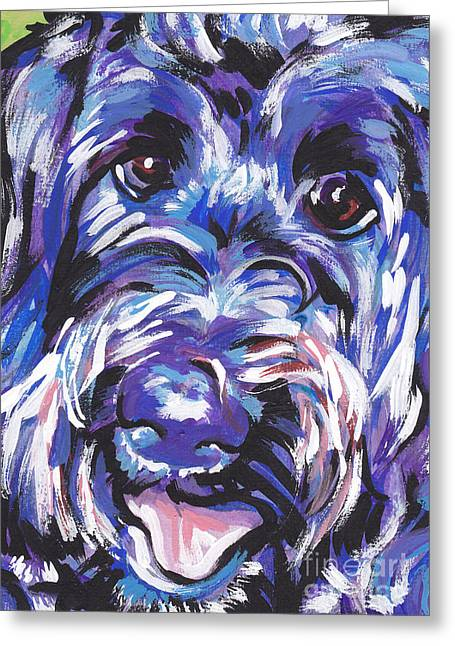 Dog Portraits Greeting Cards - Labra Doodly Do Greeting Card by Lea