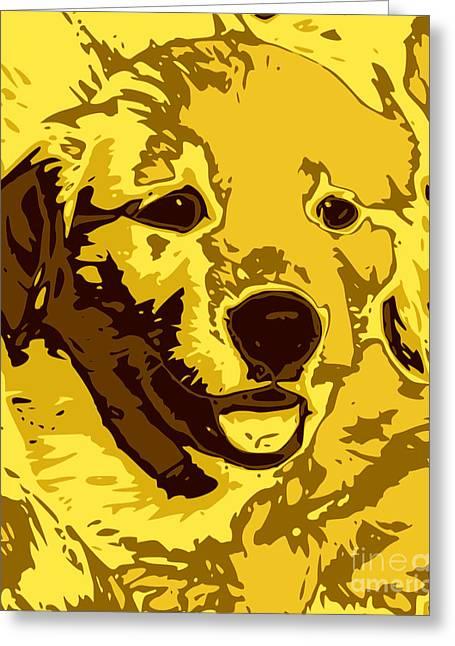 Labrador Retriever Digital Art Greeting Cards - Labrador Greeting Card by Chris Butler