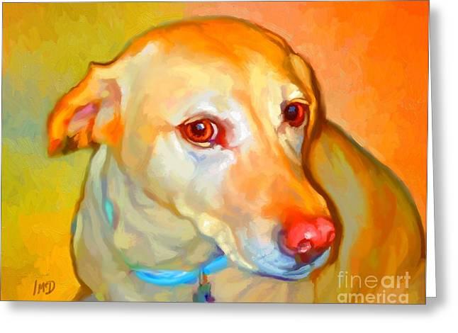 Labrador Painting Greeting Card by Iain McDonald