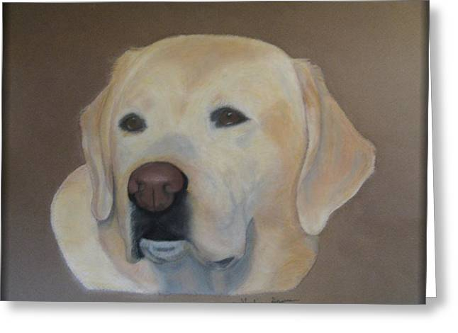 Canines Art Pastels Greeting Cards - Labrador Retreiver Greeting Card by Vickie Sizemore