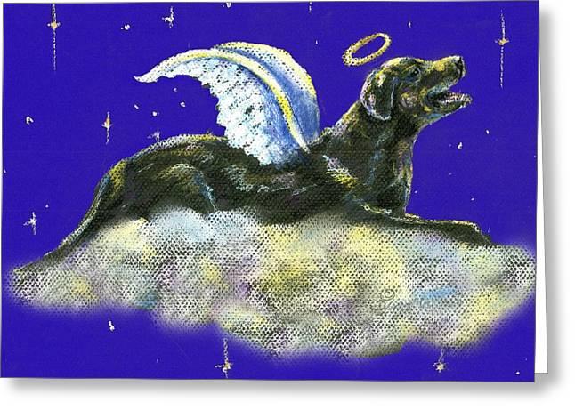 Heavens Pastels Greeting Cards - Labrador Retriever angel Greeting Card by Darlene Grubbs