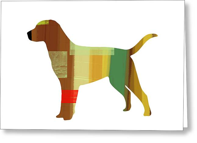 Labrador Retrievers Greeting Cards - Labrador Retriever Greeting Card by Naxart Studio