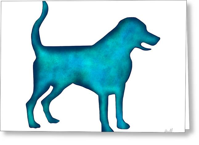 Puppies Mixed Media Greeting Cards - Labrador Retriever Greeting Card by Laura Bell