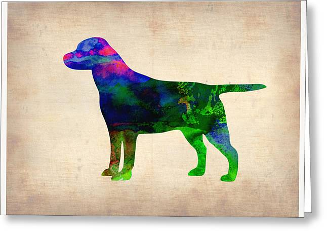 Labrador Greeting Cards - Labrador Retriever Watercolor 2 Greeting Card by Naxart Studio
