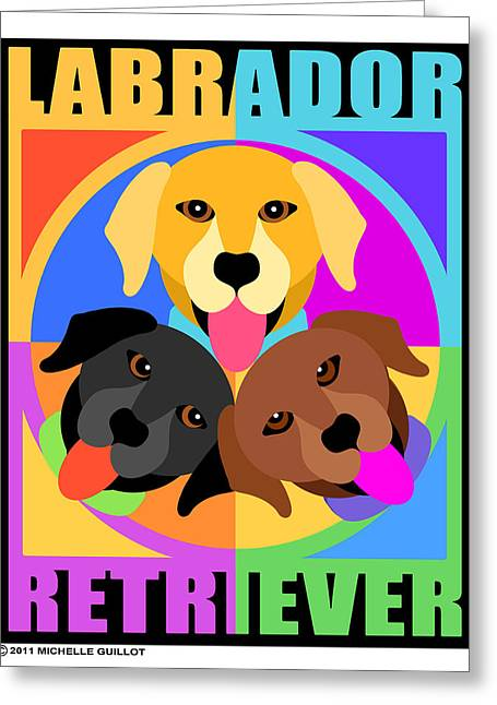 Labrador Retrievers Greeting Card by Michelle Guillot