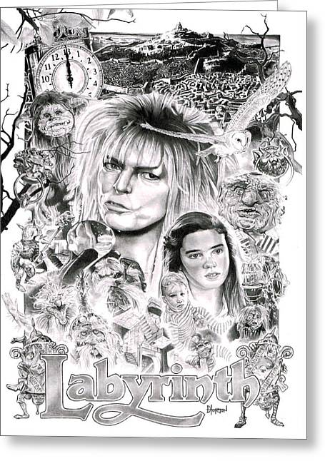 Labyrinth Greeting Card by David Horton