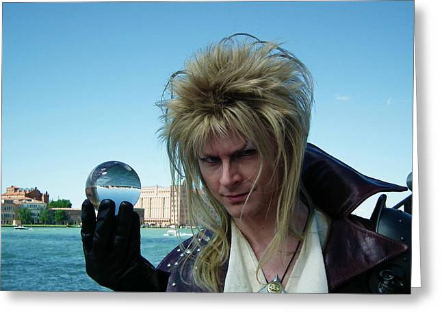 Cosplayers Photographs Greeting Cards - Labyrinth Inspired  Greeting Card by Don  Oscarez