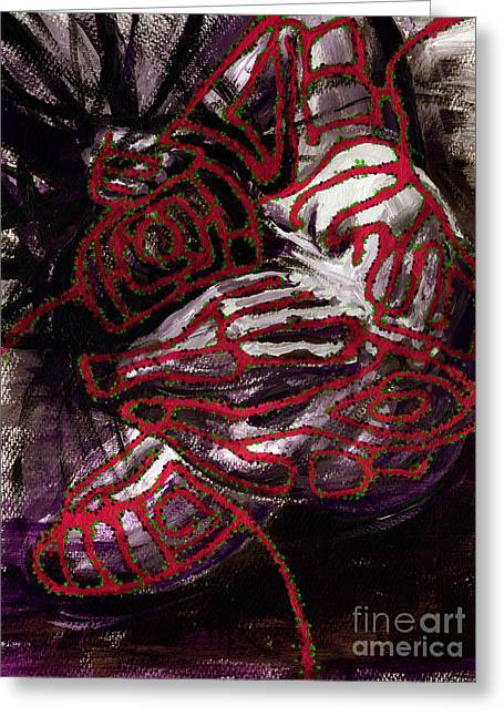 Doubting Paintings Greeting Cards - Labyrinth Greeting Card by Tatiana Ivchenkova