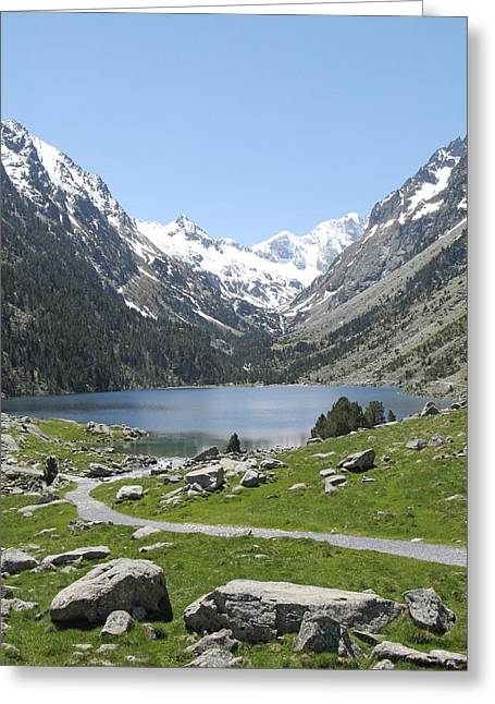 Lac De Gaube In The Pyrenees Greeting Card by Unknown