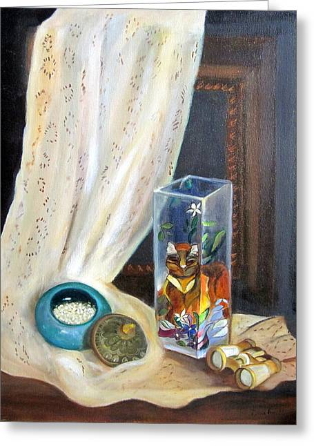 No Frame Needed Paintings Greeting Cards - Lace and Things Greeting Card by Darla Freeman