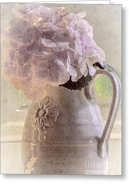 Water Jug Greeting Cards - Lace Cap II Greeting Card by Anna Wacker