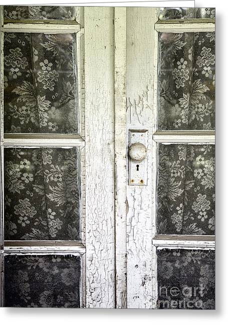 Lace Curtains Greeting Card by Margie Hurwich
