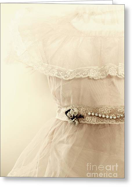 Lace Trim Greeting Cards - Lace Details Greeting Card by Margie Hurwich