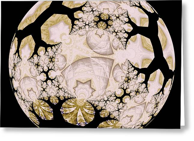 Fractal Orbs Greeting Cards - Lace Greeting Card by Elizabeth McTaggart