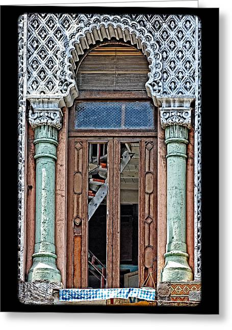 Cuban Greeting Cards - Lace Facade Greeting Card by Dawn Currie
