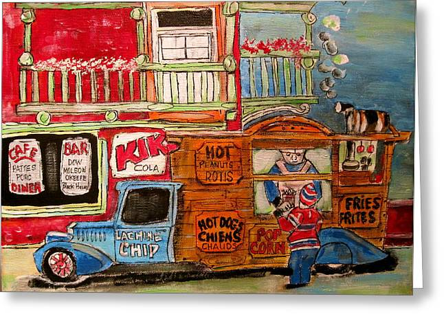 Litvack Greeting Cards - Lachine Chip Wagon Greeting Card by Michael Litvack