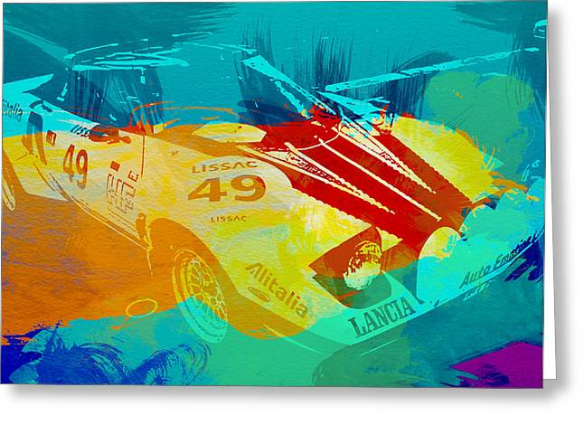 Historic Racing Greeting Cards - Lacia Stratos Watercolor 1 Greeting Card by Naxart Studio