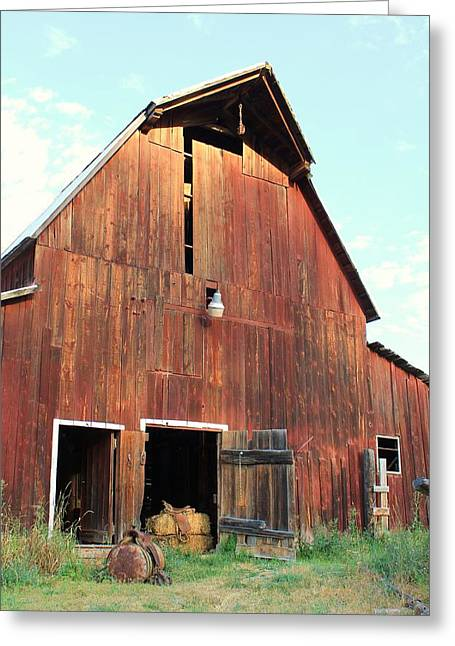 Cattle-shed Digital Art Greeting Cards - Laclede Barn 6 Greeting Card by Roxanne Basford