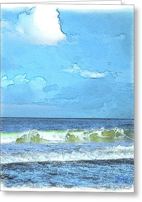 Storm Clouds Cape Cod Greeting Cards - LaCount Hollow Greeting Card by William Sargent