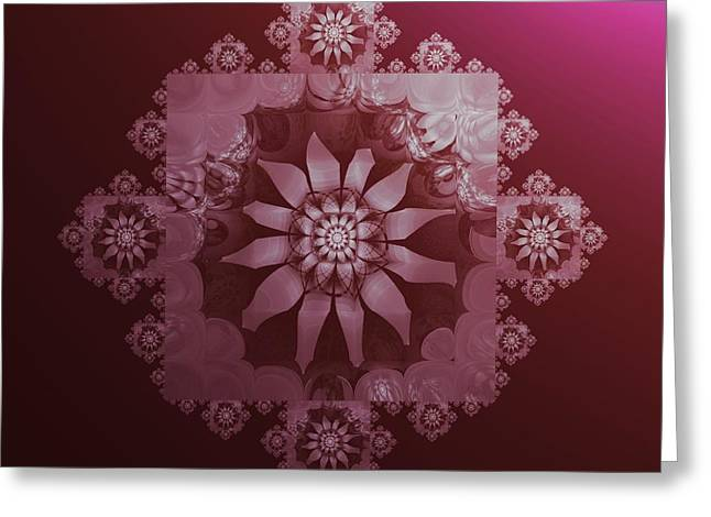 Lacy Contemporary Greeting Cards - Lacy Pink Greeting Card by Nancy Pauling