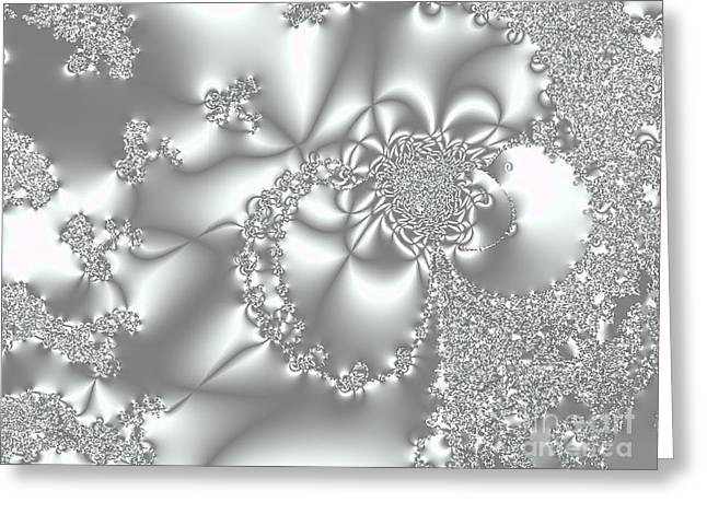 Lacy Fractal Greeting Cards - Lacy Greeting Card by Valerie Garner
