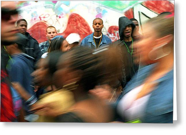 Racial Issues Photographs Greeting Cards - Ladbrook Grove Greeting Card by Janine Wiedel