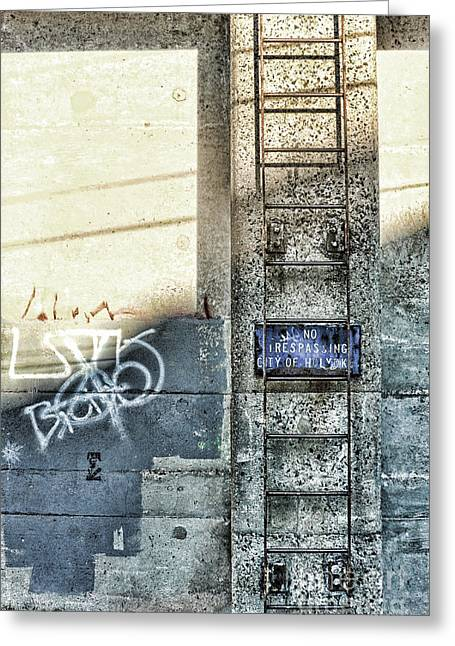 Ladder Greeting Cards - Ladder Greeting Card by HD Connelly