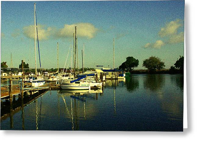 Stockton Greeting Cards - Ladds Marina Greeting Card by Joseph Coulombe