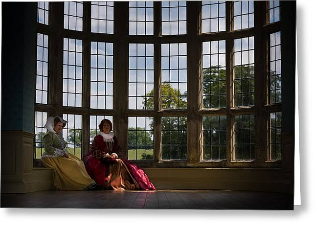 Northamptonshire Greeting Cards - Ladies at rest Greeting Card by Graham Taylor