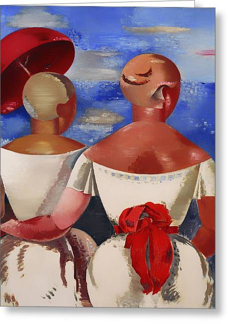 Women Together Greeting Cards - Ladies at the Seaside Greeting Card by Jekabs Kazaks