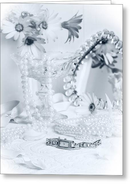 Black Pearls Greeting Cards - Ladies Dressing Table Greeting Card by Amanda And Christopher Elwell