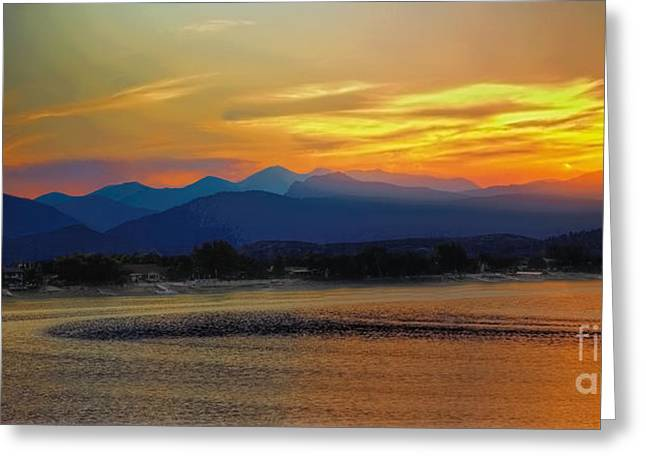 Lady In Lake Greeting Cards - Ladies in the Sky Greeting Card by Jon Burch Photography