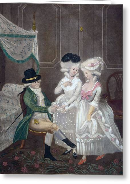 Selection Greeting Cards - Ladies Of Pleasure, 1781 Greeting Card by English School