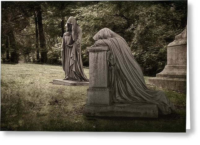 Grave Greeting Cards - Ladies of Sorrow Greeting Card by Tom Mc Nemar
