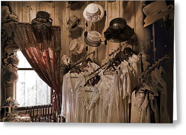 Barkerville Greeting Cards - Ladies Shoppe Greeting Card by Ed Hall