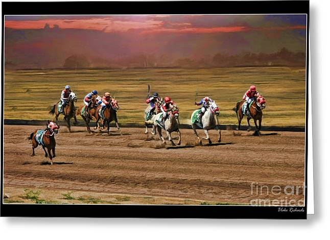 Horse Websites Greeting Cards - Ladies World Chapionship Ladies Cup Missing One Lady Greeting Card by Blake Richards